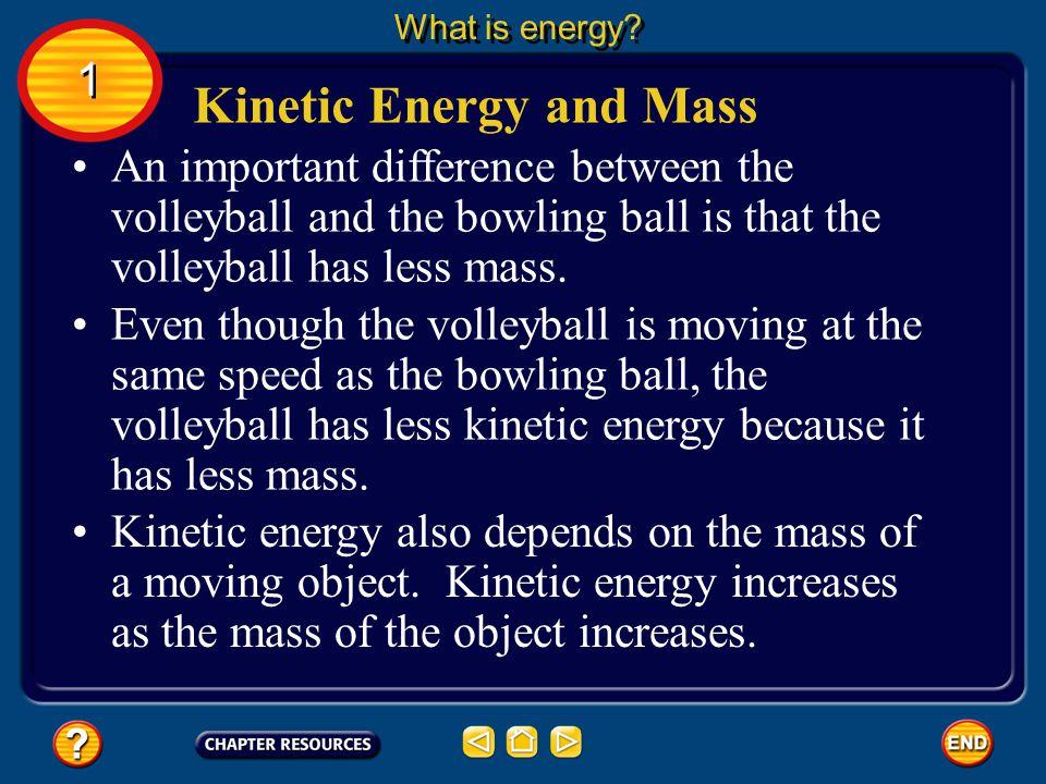 Kinetic Energy and Mass