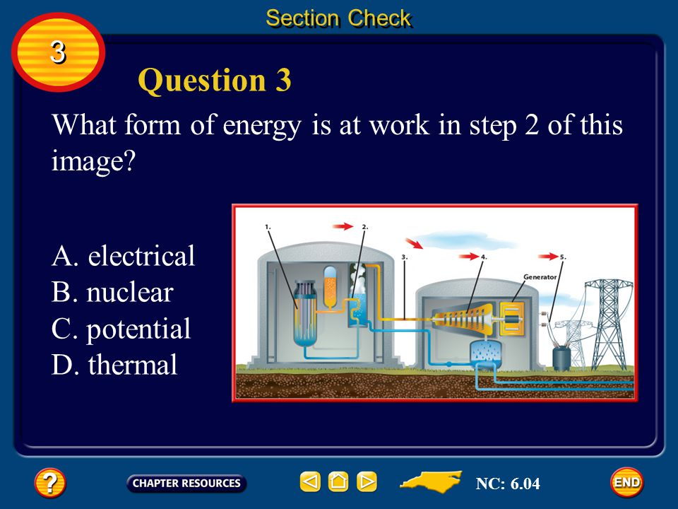 Question 3 3 What form of energy is at work in step 2 of this image
