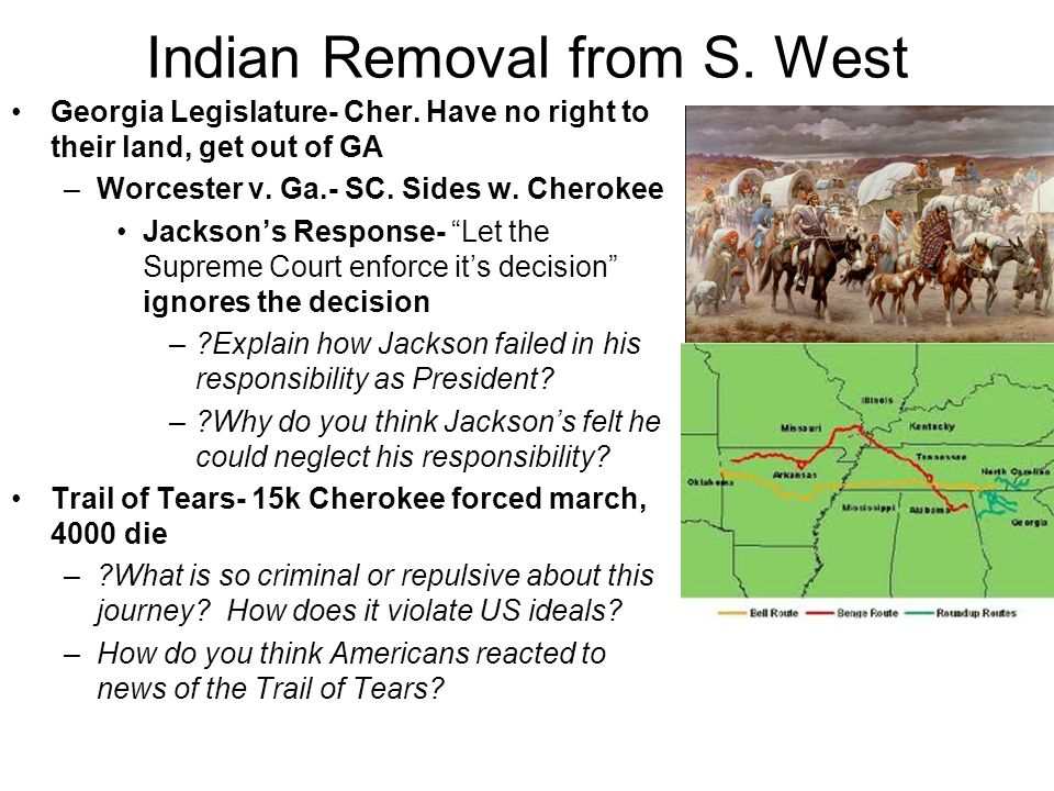 Indian Removal from S. West