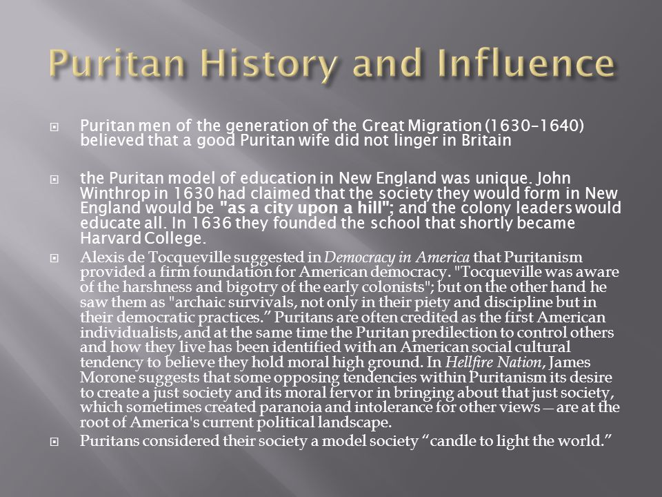 Puritan History and Influence