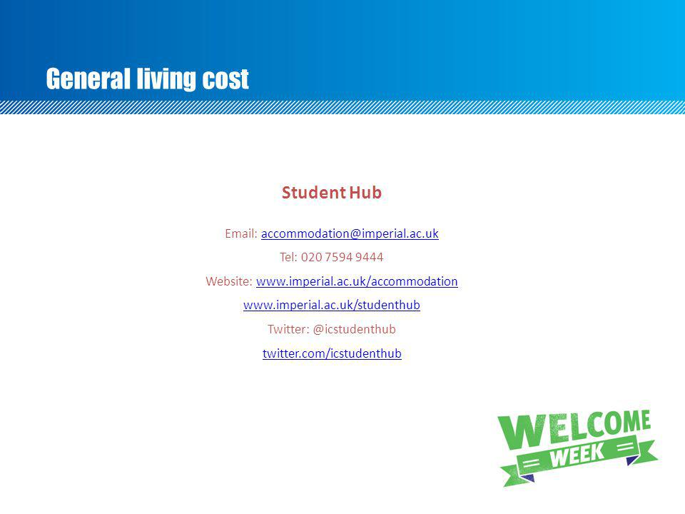 General living cost Student Hub