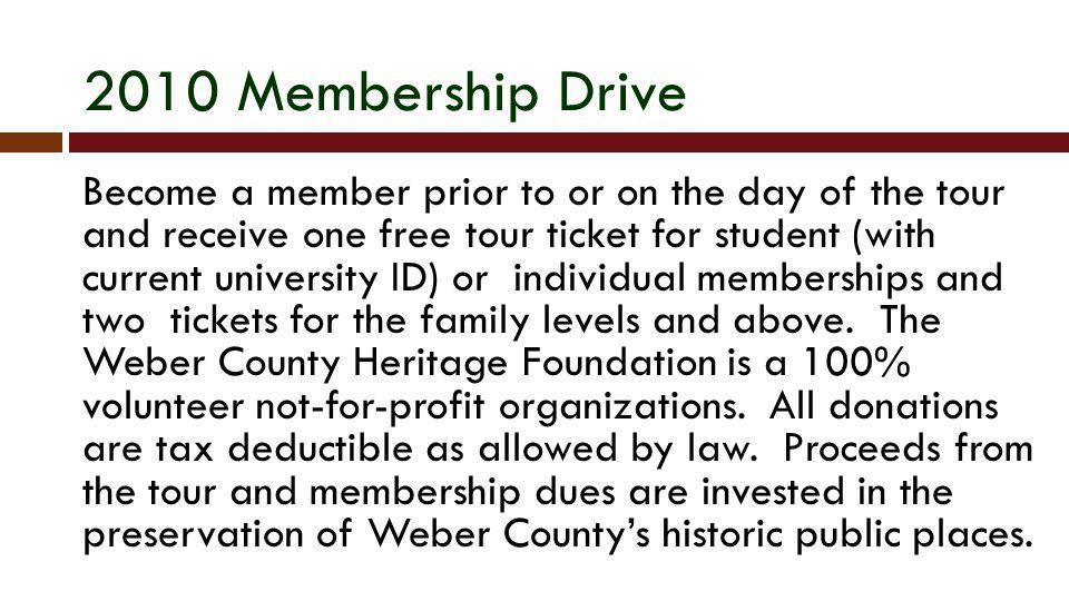 2010 Membership Drive