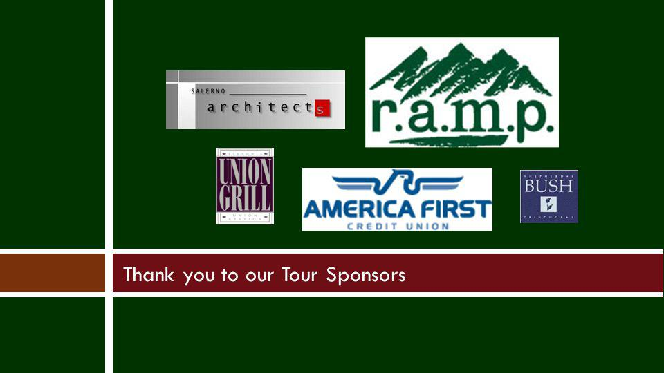 Thank you to our Tour Sponsors