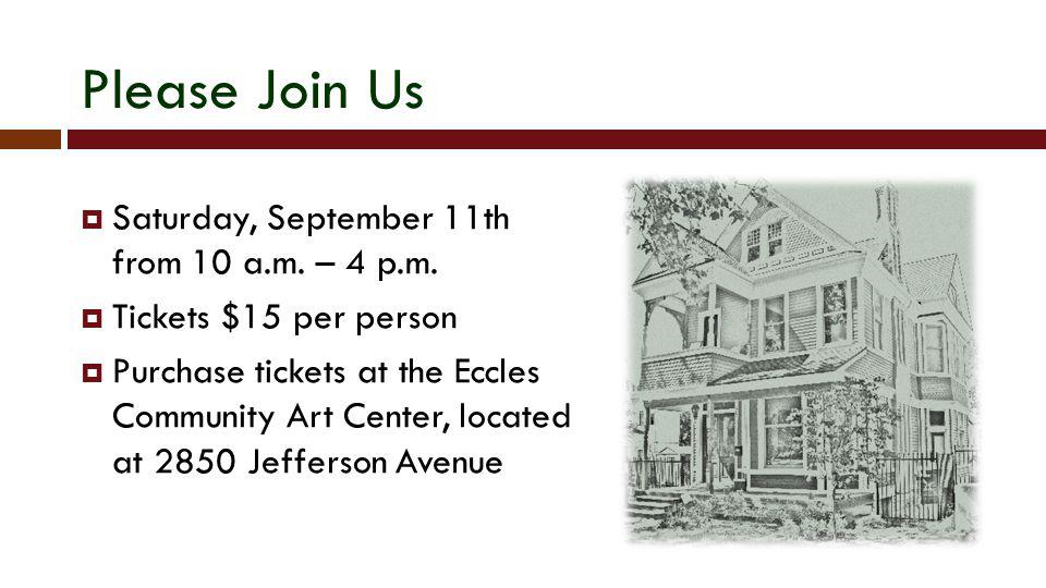 Please Join Us Saturday, September 11th from 10 a.m. – 4 p.m.