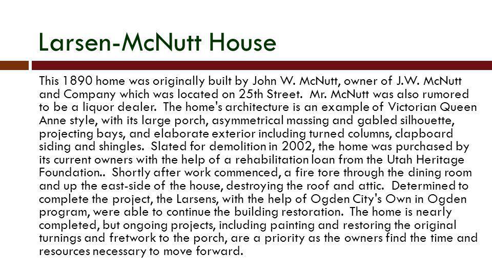 Larsen-McNutt House