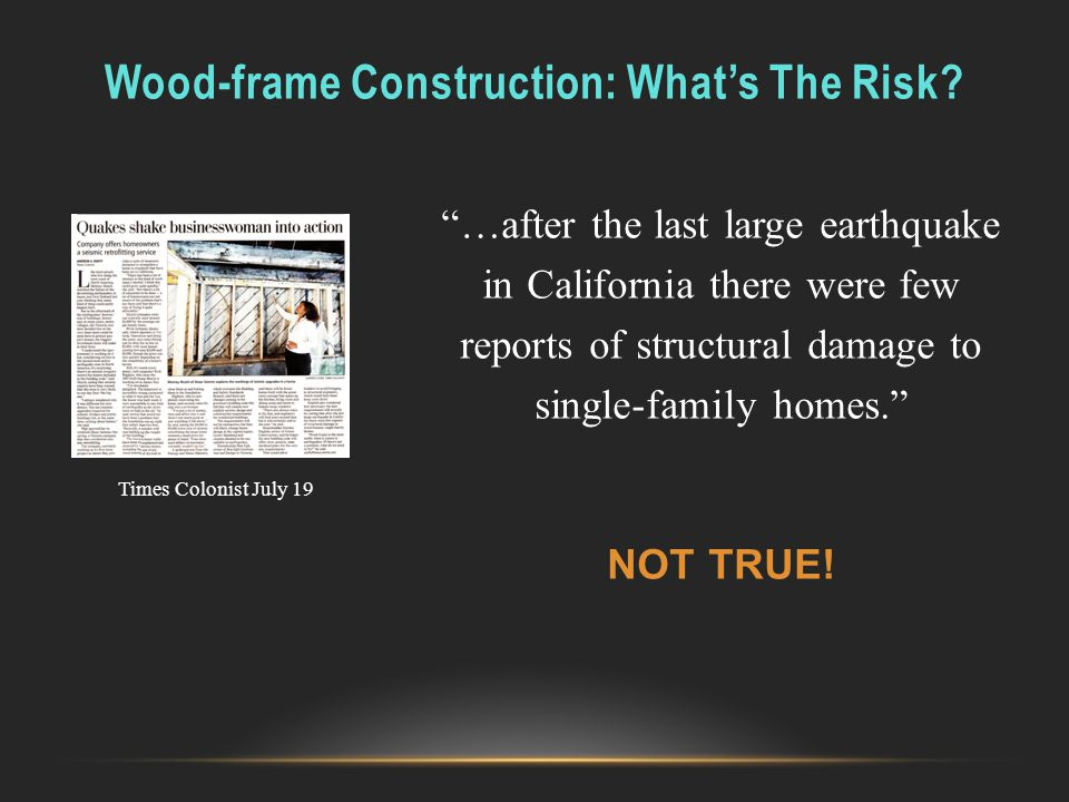 Wood-frame Construction: What's The Risk
