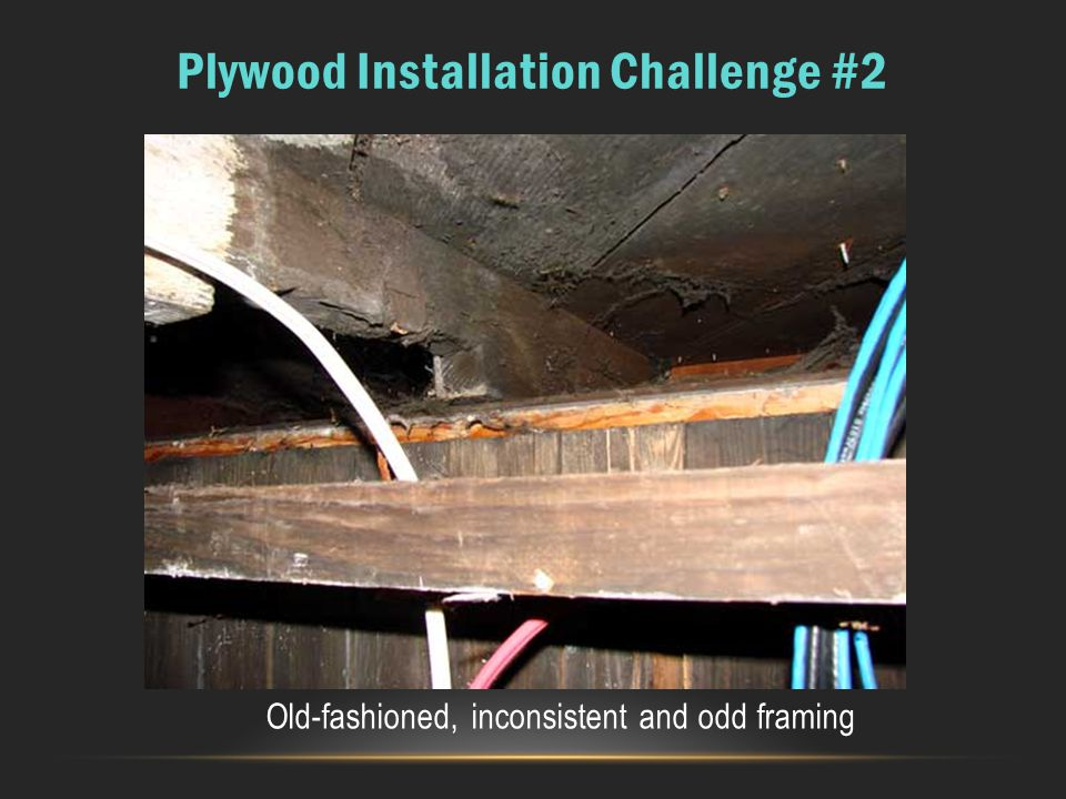 Plywood Installation Challenge #2