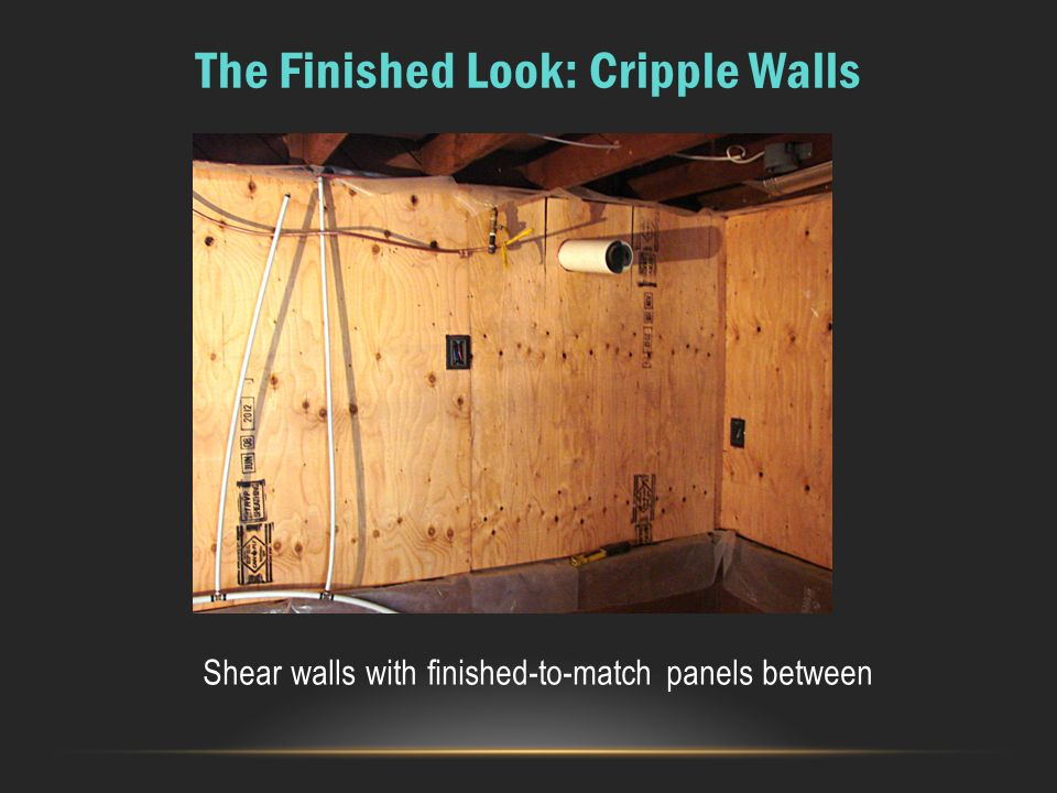 The Finished Look: Cripple Walls
