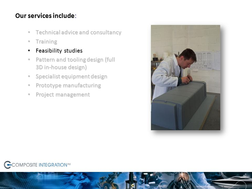 Our services include: Technical advice and consultancy Training