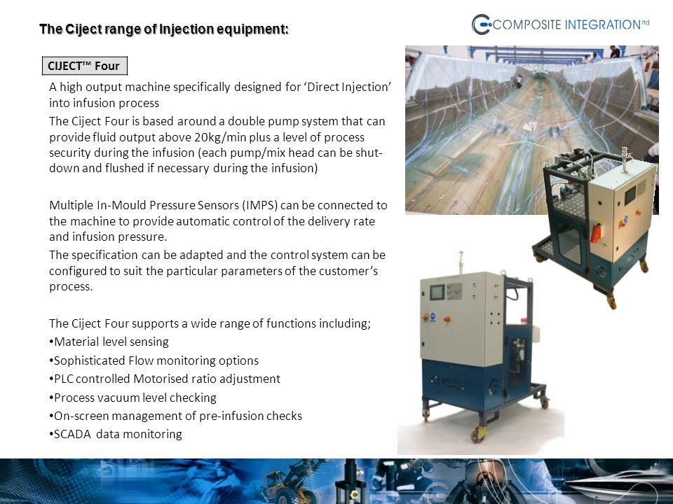 The Ciject range of Injection equipment: