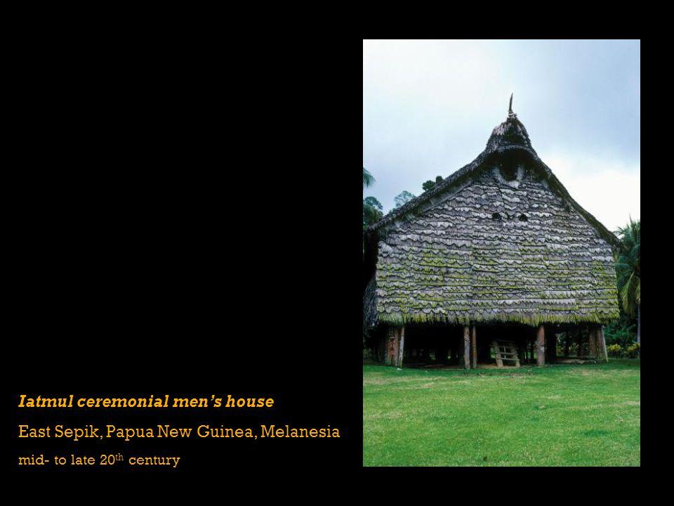 Iatmul ceremonial men's house East Sepik, Papua New Guinea, Melanesia