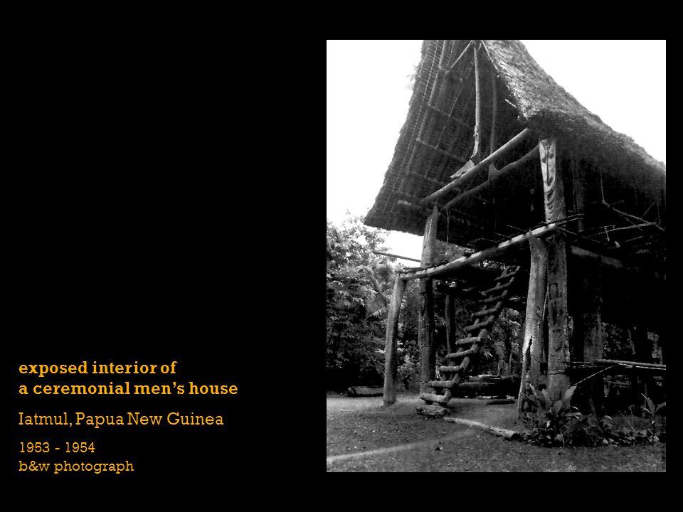 exposed interior of a ceremonial men's house Iatmul, Papua New Guinea