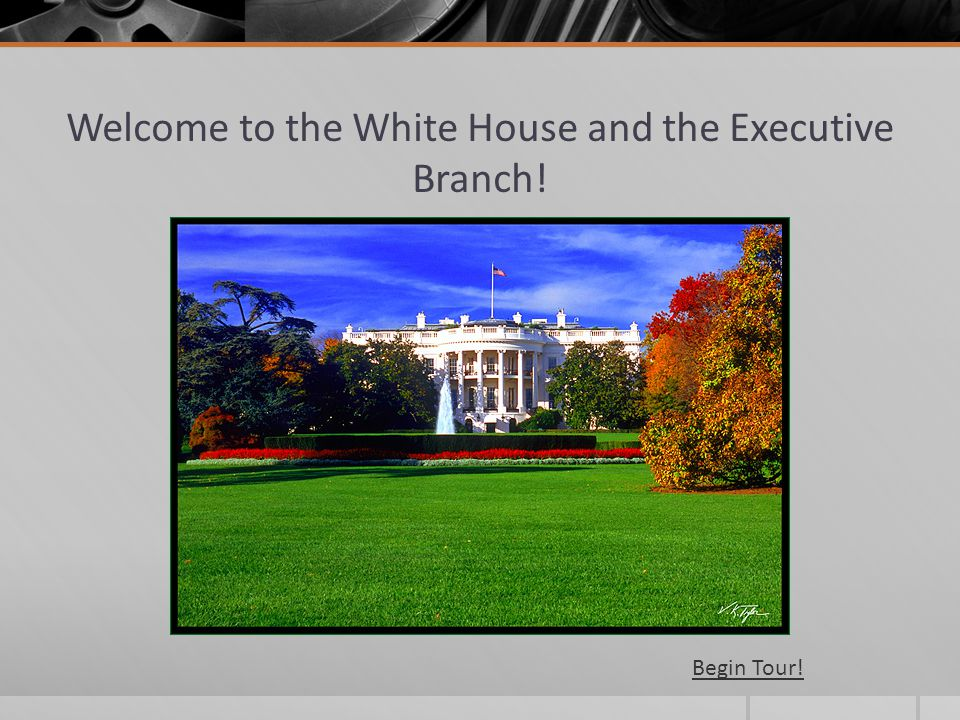 Welcome to the White House and the Executive Branch!