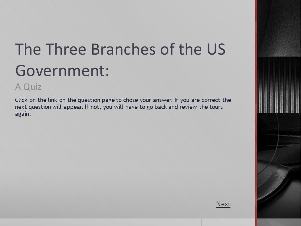 The Three Branches of the US Government: