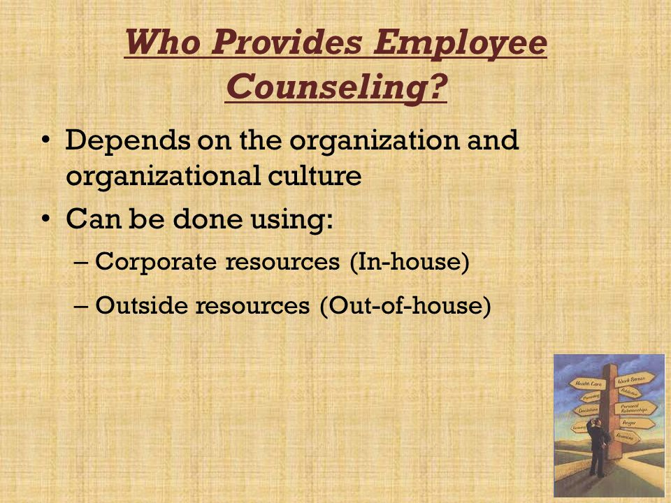 Who Provides Employee Counseling