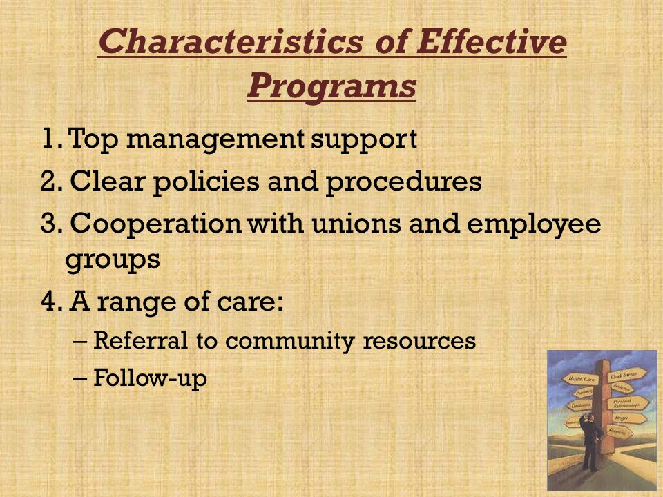 Characteristics of Effective Programs