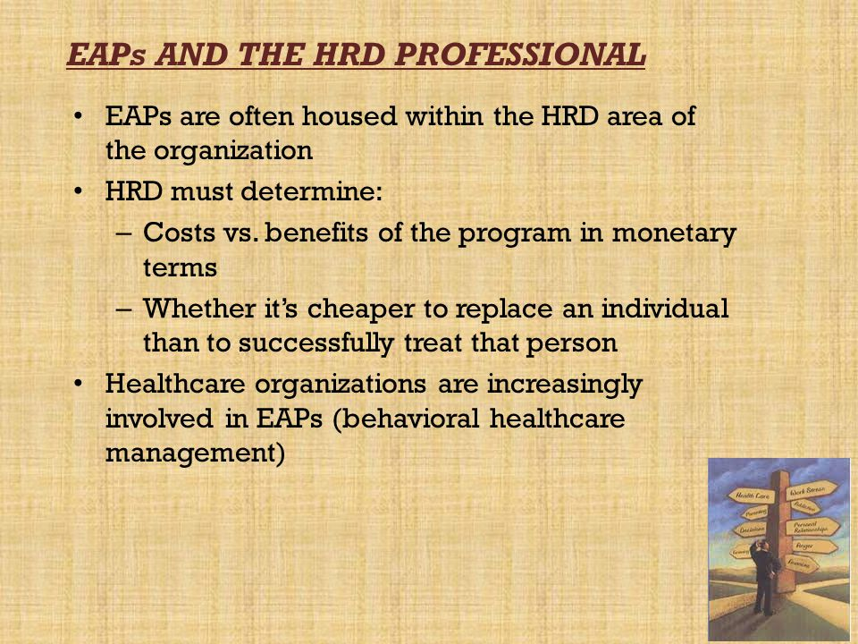 EAPs AND THE HRD PROFESSIONAL