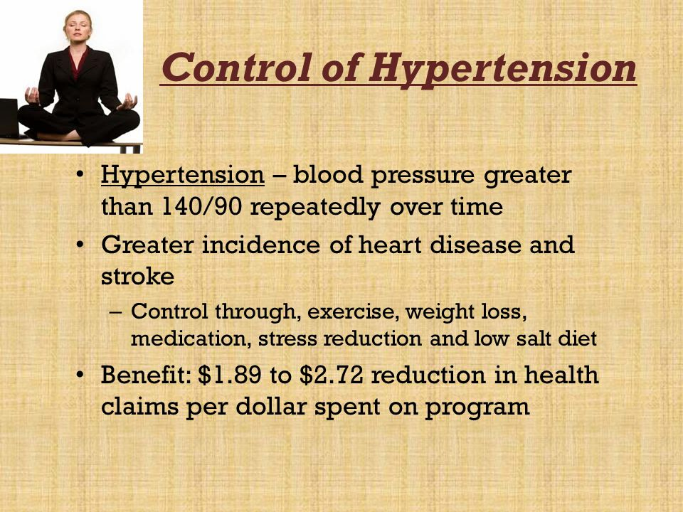 Control of Hypertension