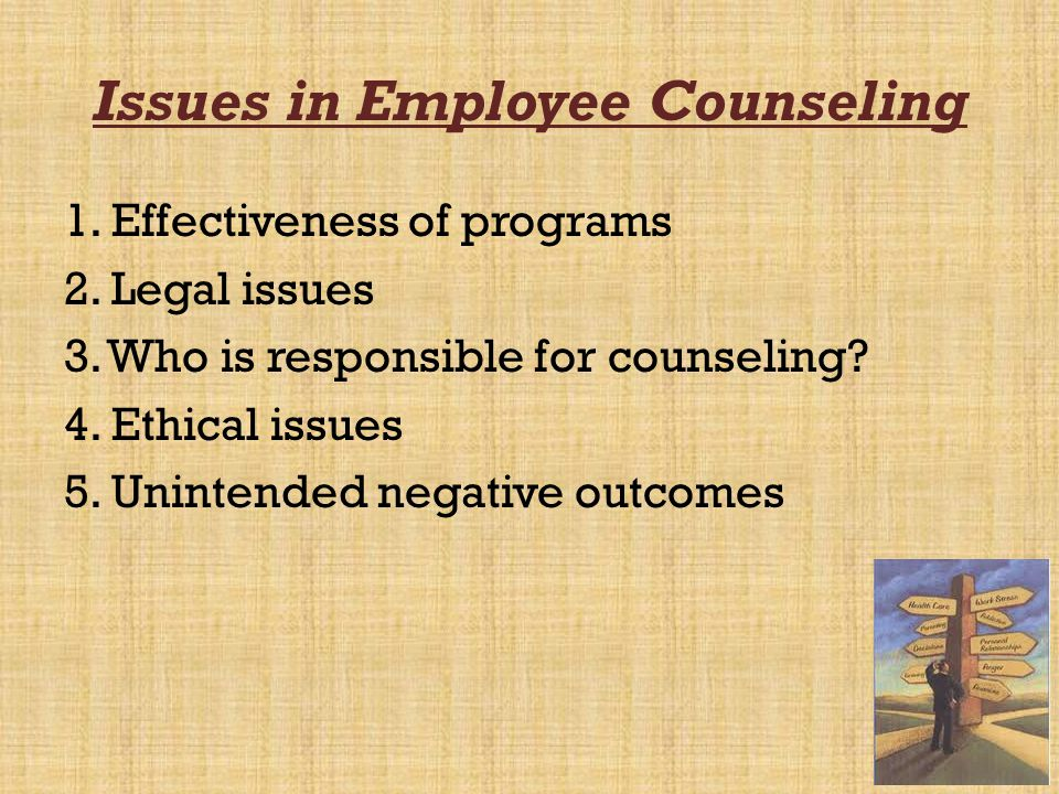 Issues in Employee Counseling