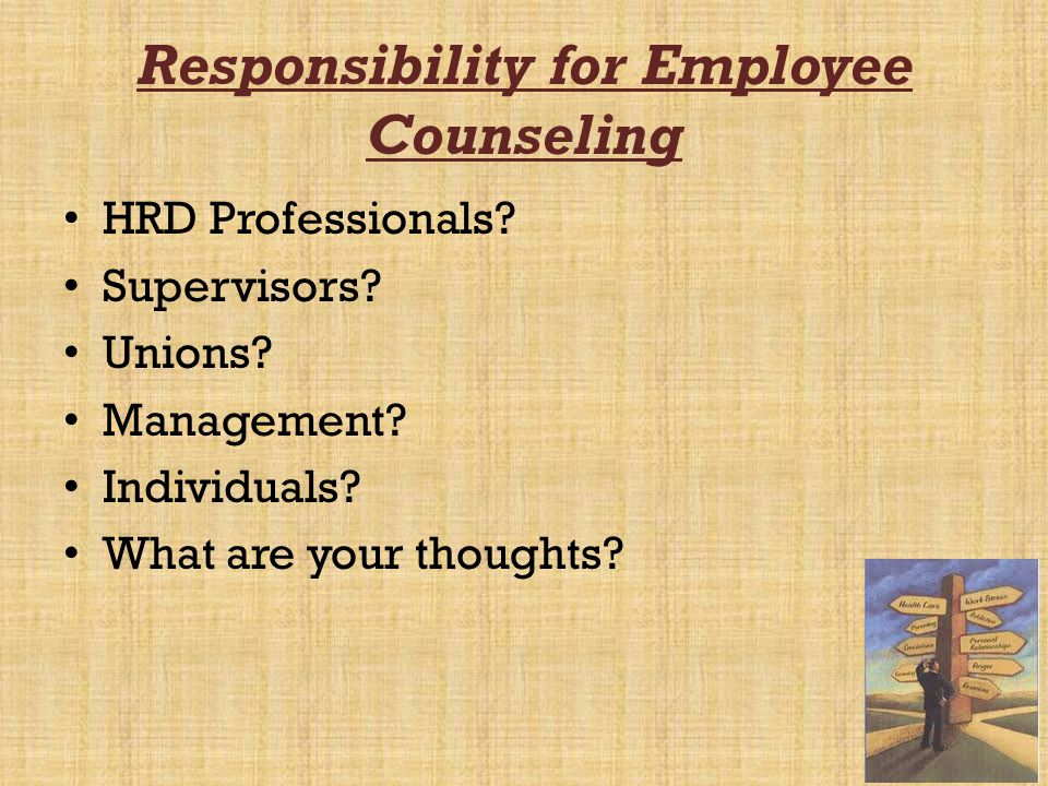 Responsibility for Employee Counseling