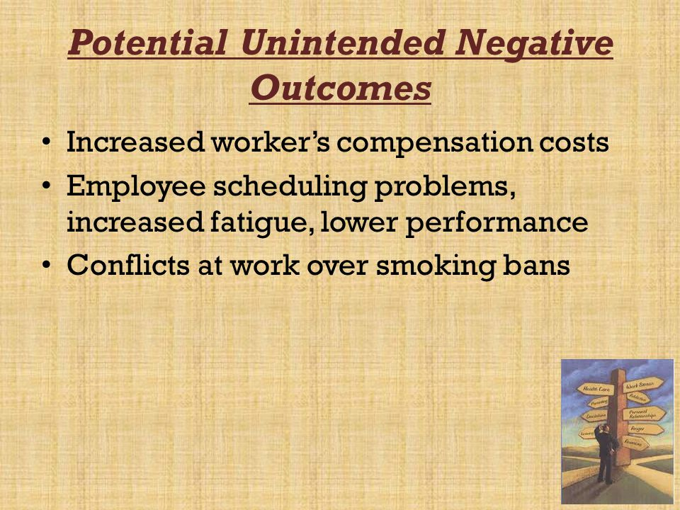 Potential Unintended Negative Outcomes