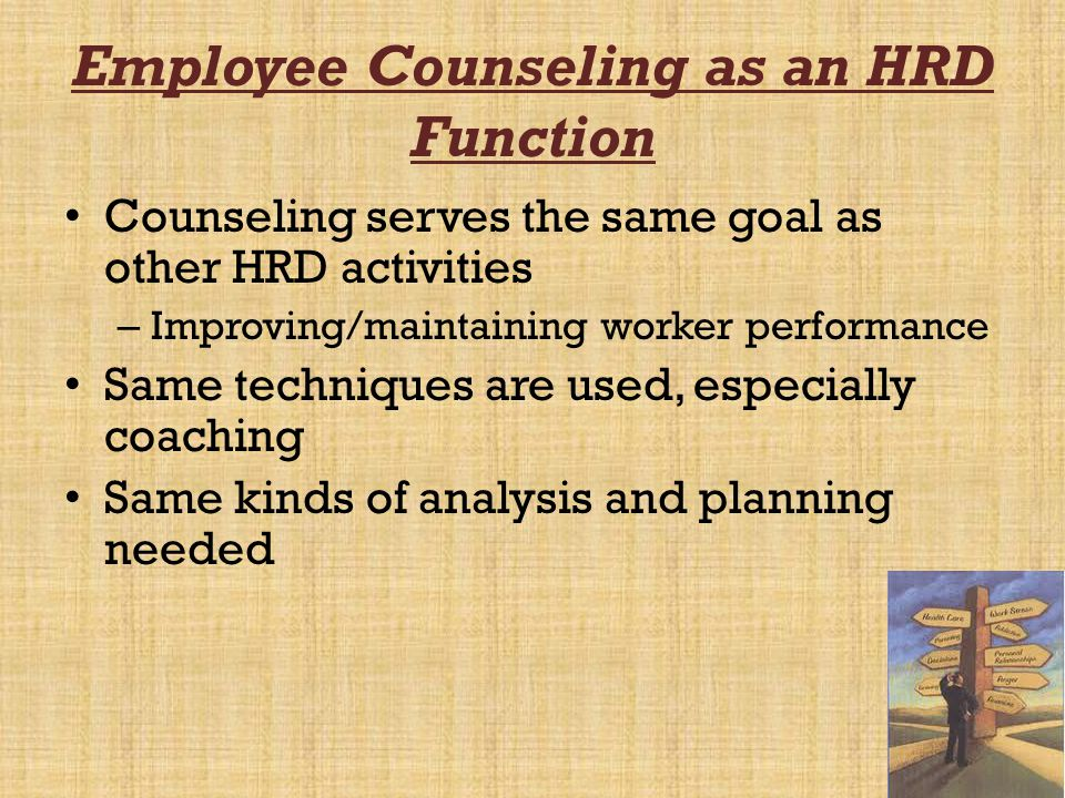 Employee Counseling as an HRD Function