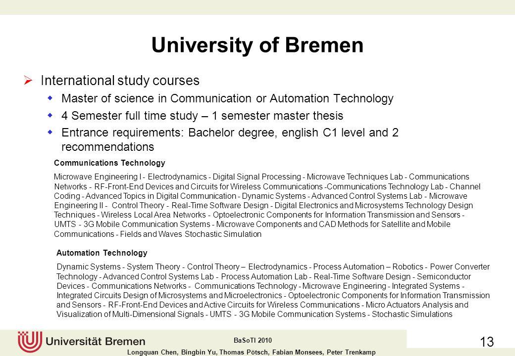 University of Bremen International study courses