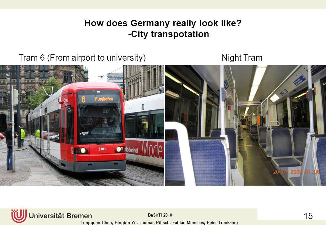 How does Germany really look like -City transpotation