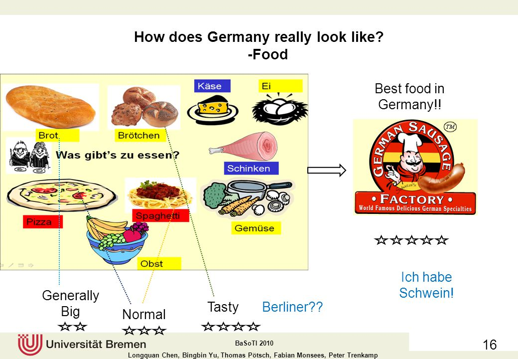 How does Germany really look like -Food