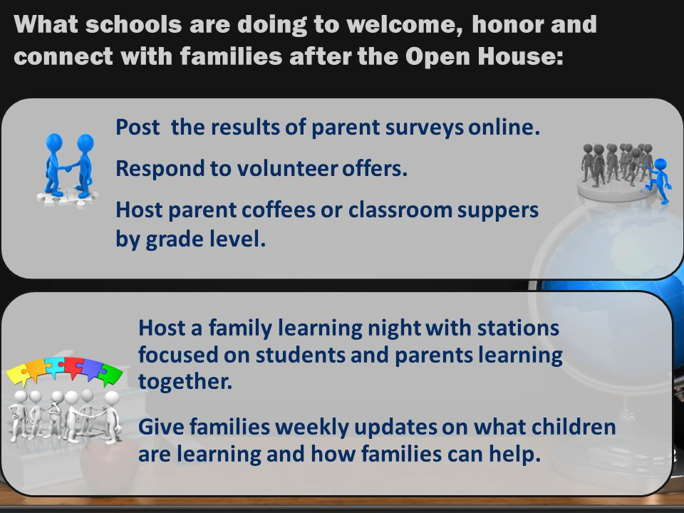 What schools are doing to welcome, honor and connect with families after the Open House: