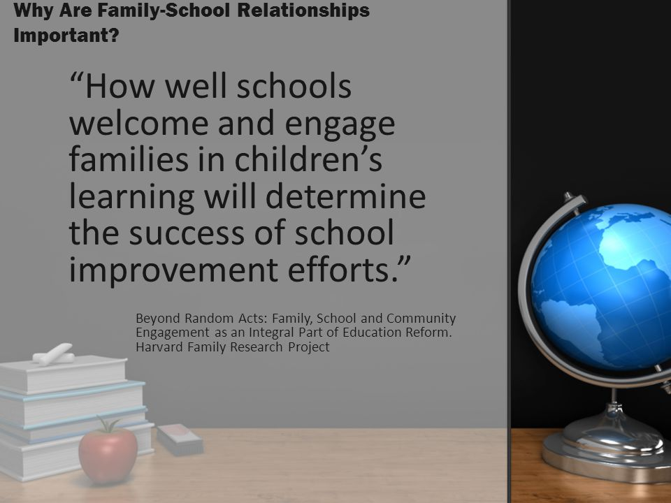 Why Are Family-School Relationships Important