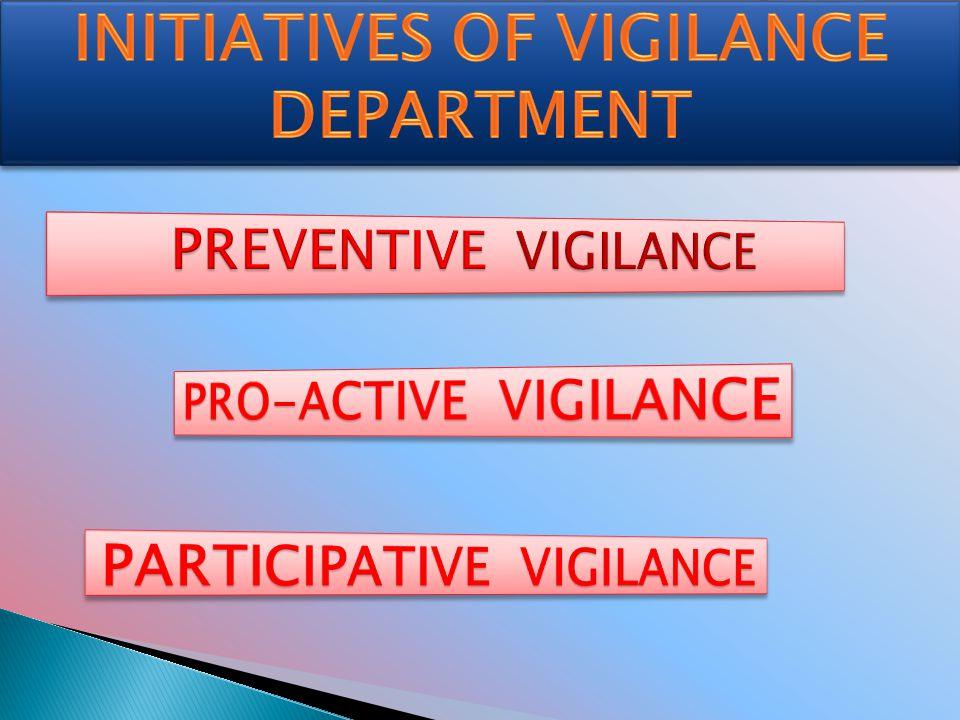 INITIATIVES OF VIGILANCE DEPARTMENT PARTICIPATIVE VIGILANCE