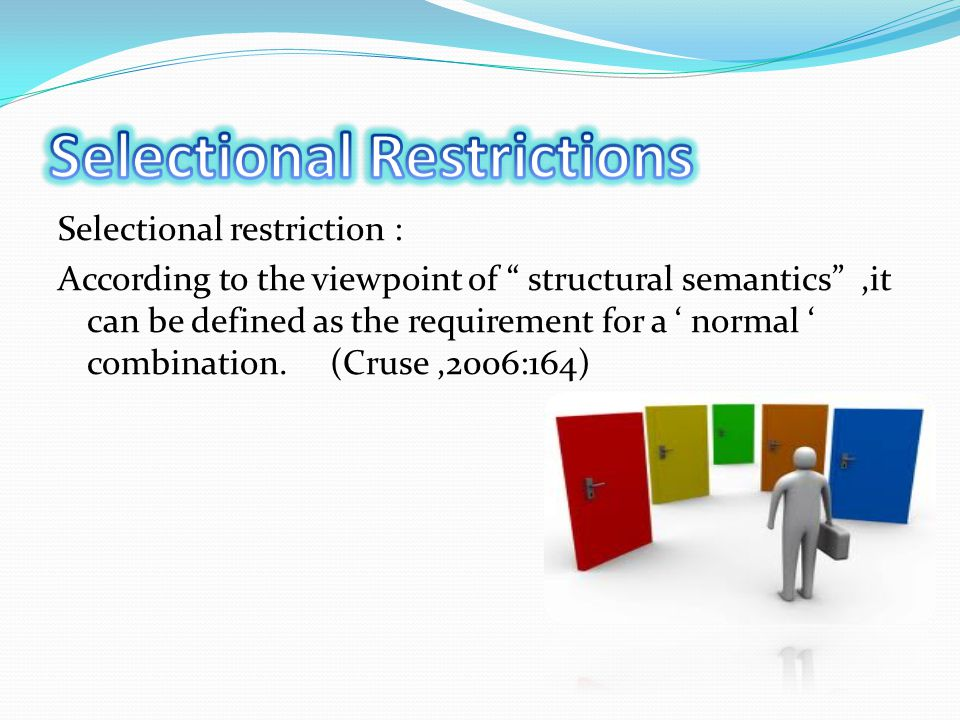 Selectional Restrictions