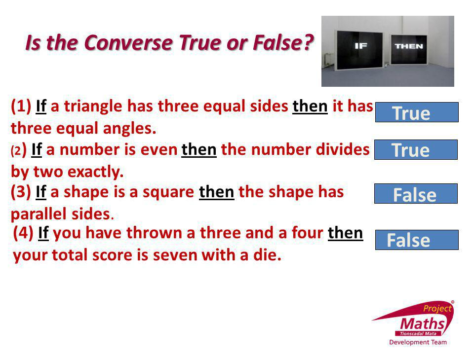 Is the Converse True or False
