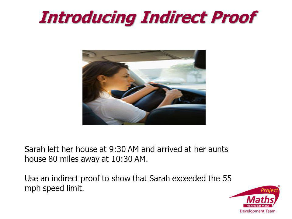 Introducing Indirect Proof
