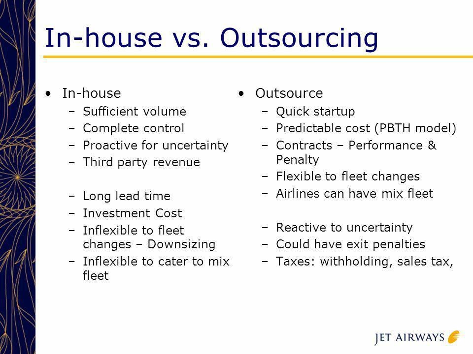 In-house vs. Outsourcing