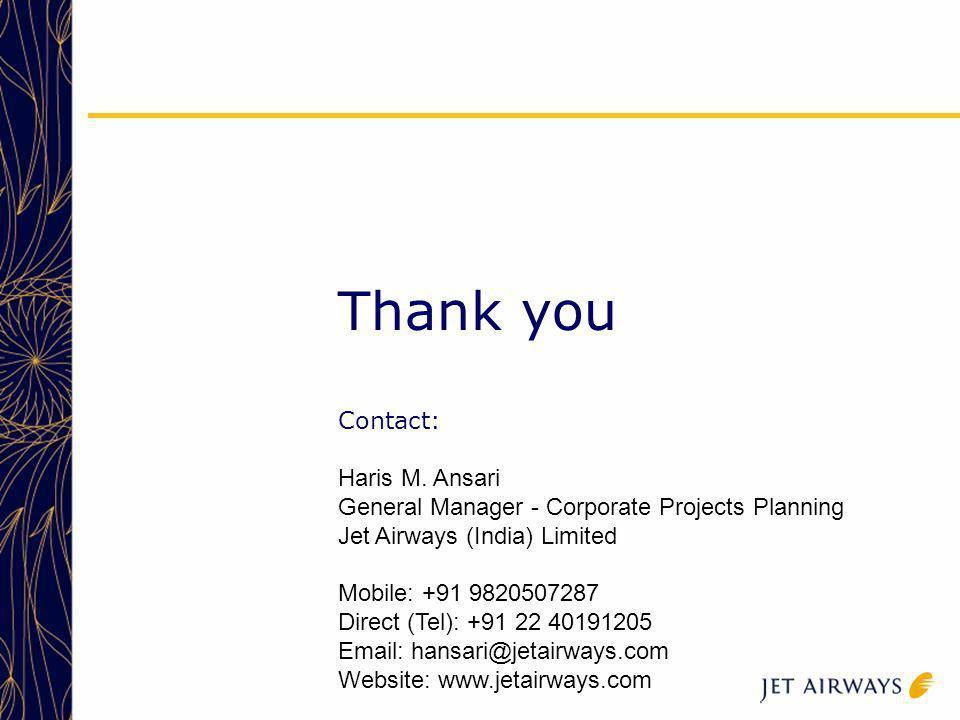 Thank you Contact: Haris M. Ansari