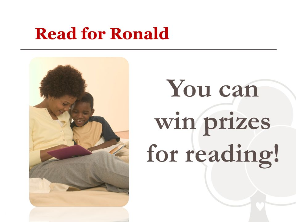 You can win prizes for reading!