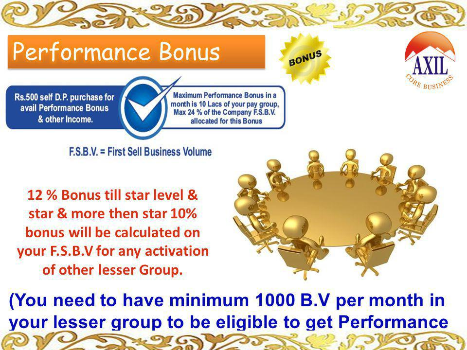 Performance Bonus