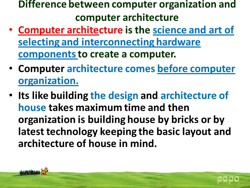 Computer architecture and organization ppt video online for Difference between building designer and architect