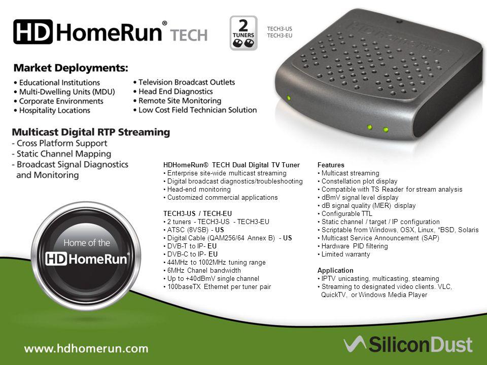 HDHomeRun® TECH Dual Digital TV Tuner