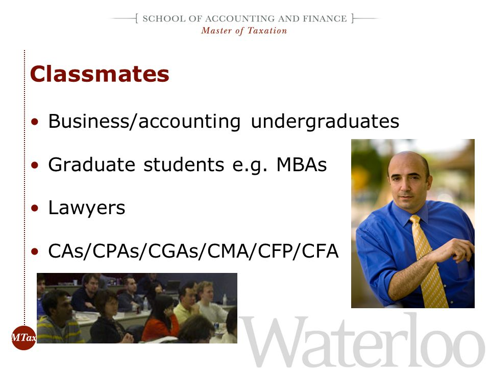 Classmates Business/accounting undergraduates