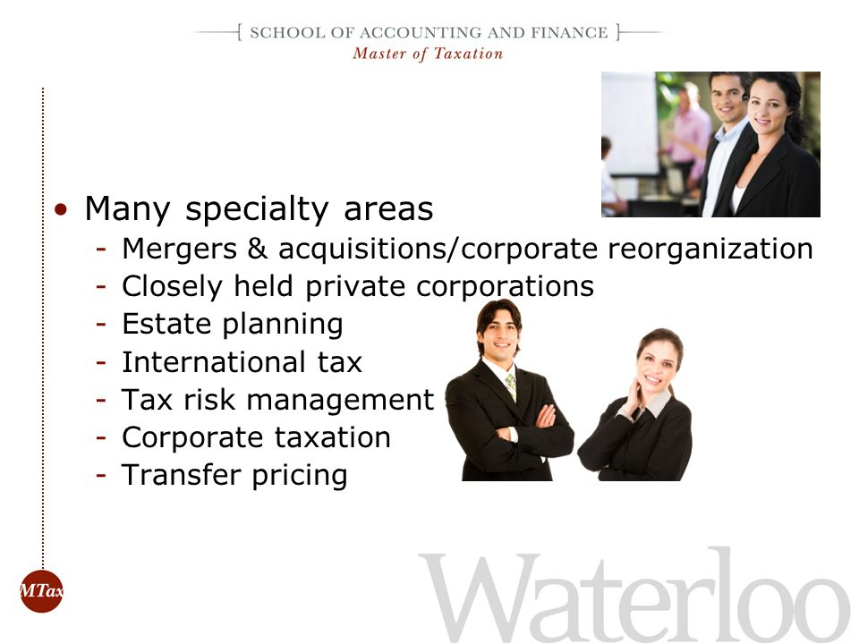Many specialty areas Mergers & acquisitions/corporate reorganization