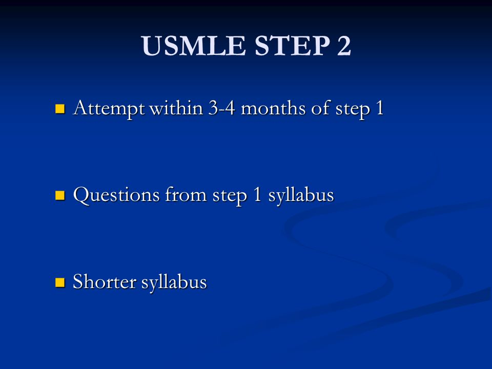 USMLE STEP 2 Attempt within 3-4 months of step 1