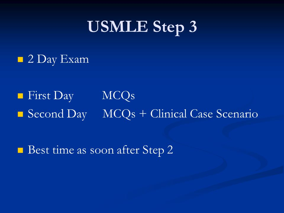 USMLE Step 3 2 Day Exam First Day MCQs