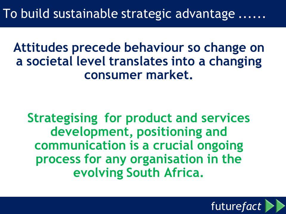 To build sustainable strategic advantage ......