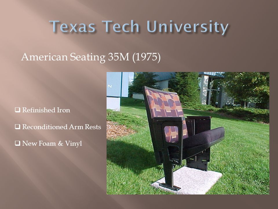 Texas Tech University American Seating 35M (1975) Refinished Iron