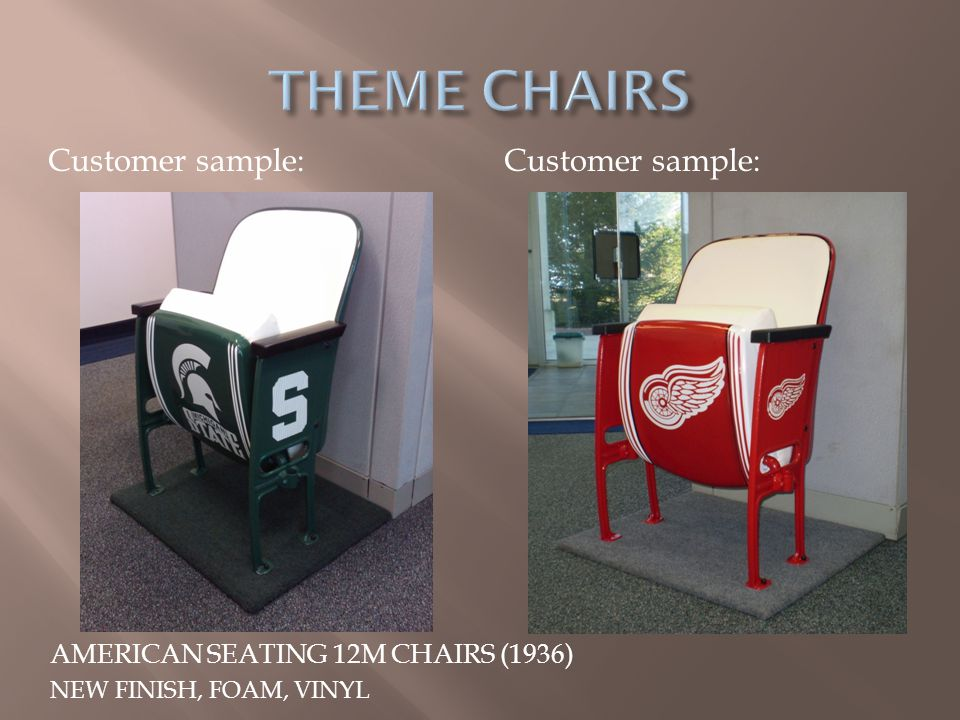 THEME CHAIRS Customer sample: Customer sample:
