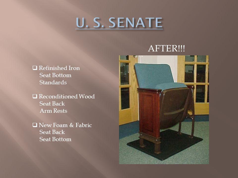 U. S. SENATE AFTER!!! Refinished Iron Seat Bottom Standards