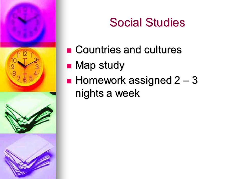 Social Studies Countries and cultures Map study